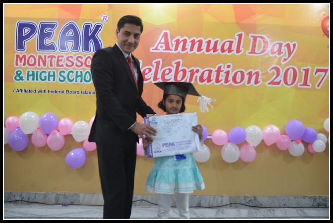 Annual Day 2017 peak Montessori high school student