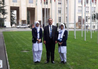 UN tour Switzerland peak Montessori high school